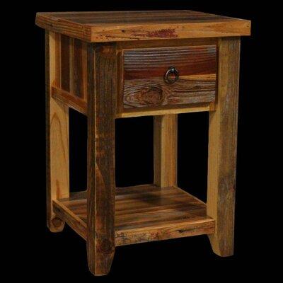Barnwood 1 Drawer Nightstand by Utah Mountain