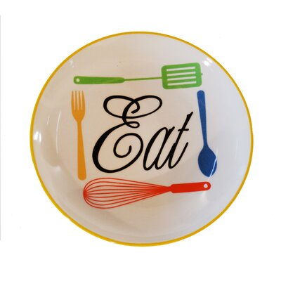 Ceramic 'Eat' Plate by American Mercantile