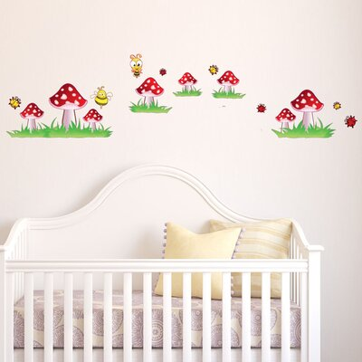 Colorful Mushroom Wall Decal by Style and Apply