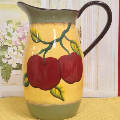 Apple on Branch Pitcher by A.C.K. Trading Co.