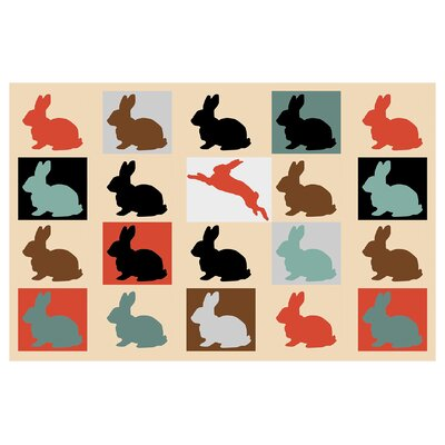 Colorful-Baby-Rabbits 10000 by Mark Ashkenazi Giclee Painting Print by PrestigeArtStudios