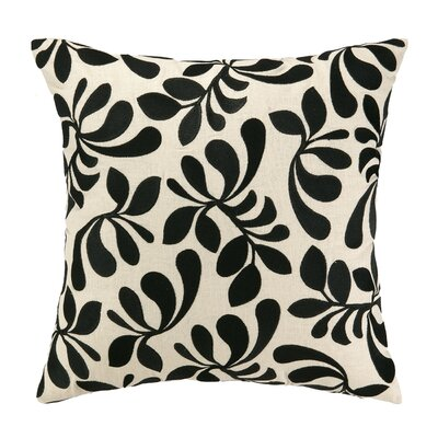 Iza Pearl Fancy Frond Embroidered Throw Pillow by Iza Pearl Design