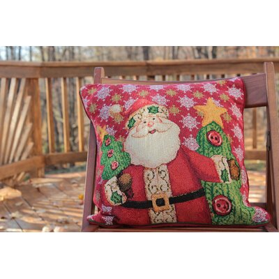 Santa Claus is Coming to Town Throw Pillow Cushion Cover by Tache Home Fashion