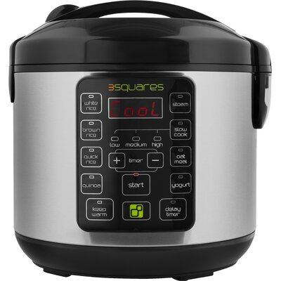 TIM3 MACHIN3™ Rice Cooker, Slow Cooker, Food Steamer & Yogurt Maker by 3 Squares