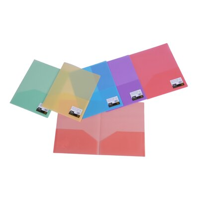 Poly Two Pocket Folder by Filexec