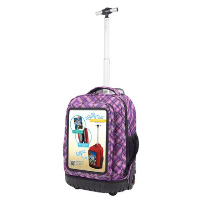 Selfie Rolling Backpack with Personalized Front Pocket by Selfie Club