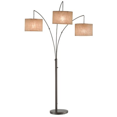 adesso trinity 3 light arc floor lamp reviews wayfair With trinity 3 light arc floor lamp by adesso