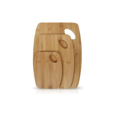 Bello 3 Piece Bamboo Cutting Board with Handle by Neoflam