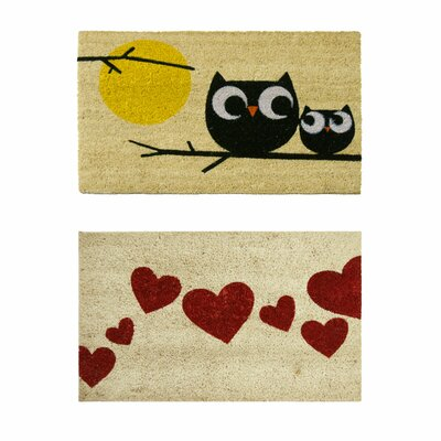 2 Piece Love Doormat Set by Rubber-Cal, Inc.