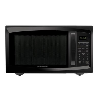 1.6 Cu. Ft. 1100W Countertop Microwave in Black Product Photo