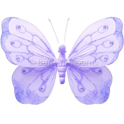 Butterfly Hanging Shimmer Nylon 3D Wall Decor by Bugs-n-Blooms