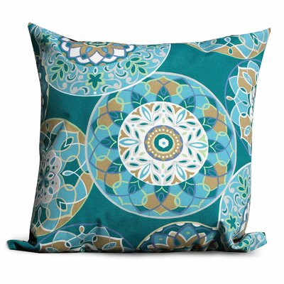 Teal Sundial Outdoor Throw Pillows Square 18x18 (Set of 2) by TK Classics