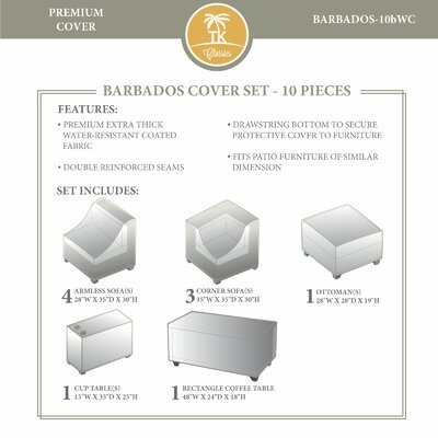 Barbados 10 Piece Winter Cover Set by TK Classics