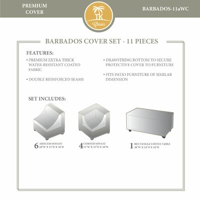 Barbados 11 Piece Winter Cover Set by TK Classics