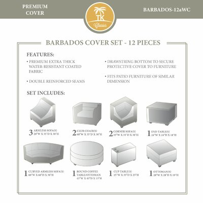 Barbados 12 Piece Winter Cover Set by TK Classics