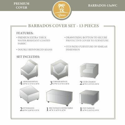 Barbados 13 Piece Winter Cover Set by TK Classics