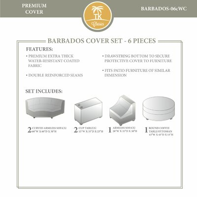 Barbados 6 Piece Winter Cover Set by TK Classics
