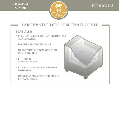 Left Chair Cover by TK Classics