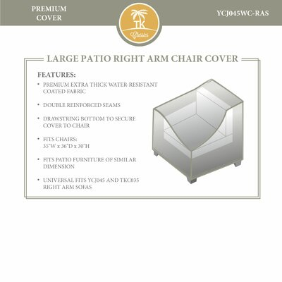 Right Arm Chair Cover by TK Classics
