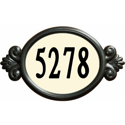 Designer's Choice Classic DIY Address Plaque by Enviromate