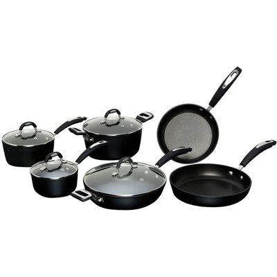 Taormina Induction 10-Piece Non-Stick Cookware Set by Ballarini