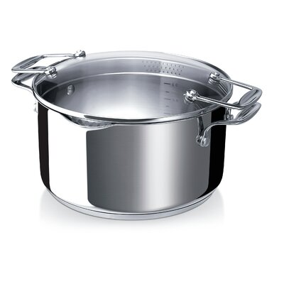 Pratique Stainless Steel Casserole with Strainer Glass Lid by Beka Cookware