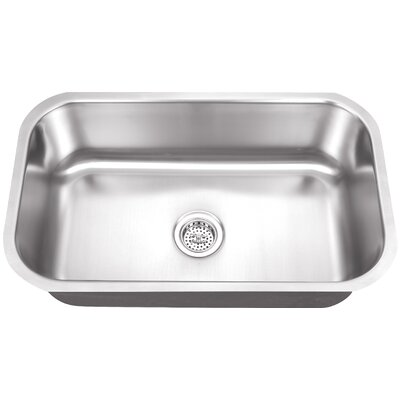 "30"" x 18"" Single Bowl Kitchen Sink Product Photo"