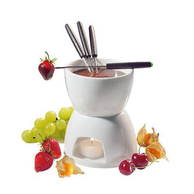6 Piece Ceramic Fondue Set by Imperial Home