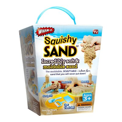Squishy Sand Soft and Moldable Sculptable Indoor Sand Toy by Imperial Home