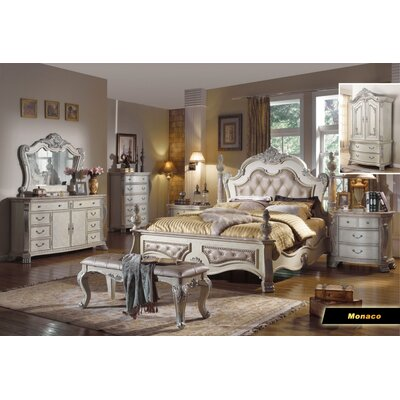 Meridian Furniture Usa Monaco Panel Customizable Bedroom Set Reviews Wayfair