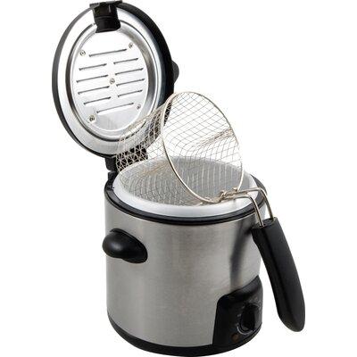 KitchenWorthy .9 Liter Stainless Steel Deep Fryer