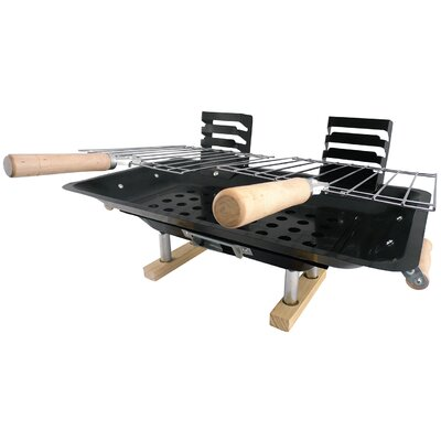 akerue 18 charcoal hibachi grill reviews wayfair. Black Bedroom Furniture Sets. Home Design Ideas