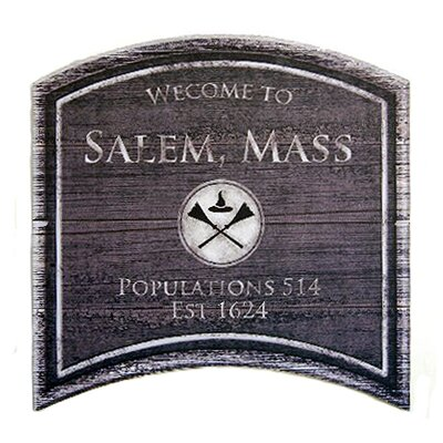 Halloween Salem Mass Wall Plaque by SheasWildflowers