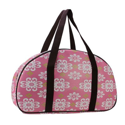 Flower Travel Bag with Brown Handles by NorthlightSeasonal