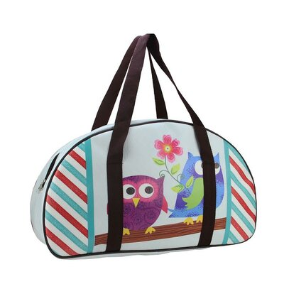 Owl Friends and Flower Travel Bag with Handles by NorthlightSeasonal