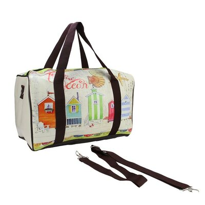 Beach House Travel Bag with Handles and Crossbody Strap by NorthlightSeasonal