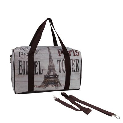 Vintage Eiffel Tower French Travel Bag with Handles and Crossbody Strap by NorthlightSeasonal
