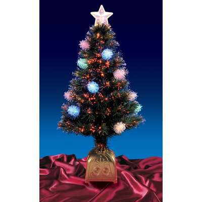 4' Pine Cone Artificial Christmas Tree with LED Multi Light by NorthlightSeasonal