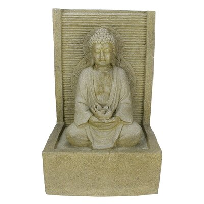Buddha Water Fountain Outdoor Patio Garden Statue by NorthlightSeasonal