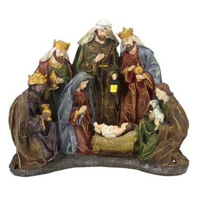 Battery Operated Lighted Religious Nativity Scene Christmas Table Top Decoration by ...