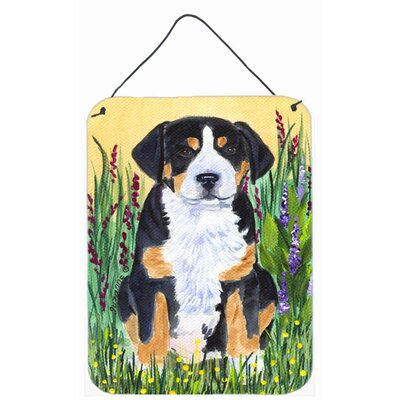 Greater Swiss Mountain Dog Aluminum Hanging Painting Print Plaque by Caroline's Treasures