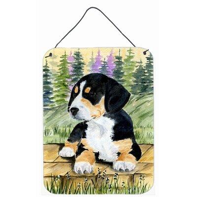 Entlebucher Mountain Dog Aluminum Hanging Painting Print Plaque by Caroline's Treasures