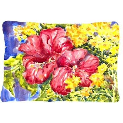 Hibiscus Indoor/Outdoor Throw Pillow by Caroline's Treasures