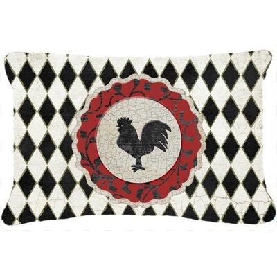 Rooster Harlequin Indoor/Outdoor Throw Pillow by Caroline's Treasures