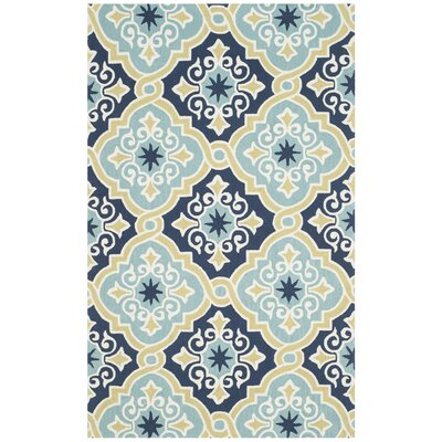 Four Seasons Navy/Light Blue Area Rug by Darby Home Co