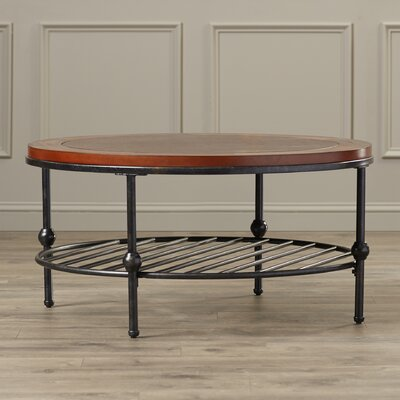 Mary Inset Leather Cocktail Table by Darby Home Co