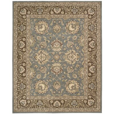 Silk Touch Hand-Tufted Blue/Brown Area Rug by Darby Home Co