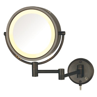 Hard Wired Dual Sided Wall Mount Halo Lighted Mirror by Darby Home Co