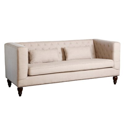 Darby Home Co DBHC4884 Crest Lane Tufted Nailhead Trim Sofa