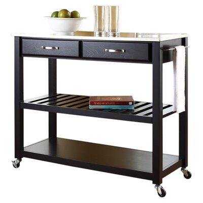 Bernice Kitchen Cart with Stainless Steel Top Product Photo